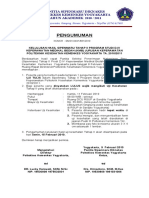 Pengumuman Hasil Uji Tulis Thp II Sipenmaru Prodi D-4 KMB Jurs. Keperawatan