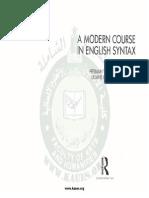 A Modern Course in English Syntax - Herman Wekker