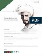 Resume e Portfolio - Riccardo Cambò