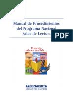 Manual de Procedimiento Programa Nacional de Salas de Lectura