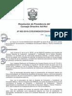 Resolución N°062-2015-COSUSINEACE-CDAH-P
