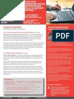 Effective Communication & Presentation Skills & Report Writing 19 - 22 October 2015 Kuala Lumpur, Malaysia / 25 - 28 October 2015 Dubai, UAE