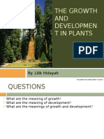 1. the Growth and Development in Plants (1)