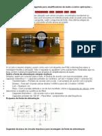 Circuito de Fonte Linear Não Regulada Para Amplificadores de Áudio e Outras Aplicações