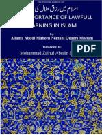 Islam Me Rizqe Halal Ki Ahmiyat Eng