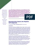 Deconstructive Self-Enquiry Protocol