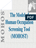 Model of Human Ocupattion Screening Tool MOHOST