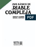 Marsden Análisis Básico de Variable Compleja
