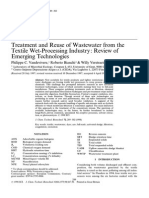 Treatment and Reuse of Wastewater From the Textile Wet-Processing Industry Review of Emerging Technologies