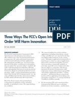 2015.05 Singer Three Ways the FCCs Open Internet Order Will Harm Innovation