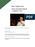Vargas Llosa_De Chávez se puede esperar cualquier cosa
