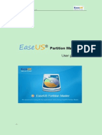 Easeus Partition Master User Guide