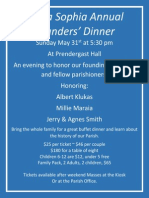 Annual Founders' Dinner