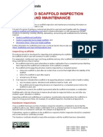 Guide Scaffold Inspection Maintenance