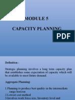 Module 5 Capacity Planning
