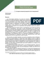 Interpretacion y Temporalidad. Revista Uruguaya de Psicoanalsis
