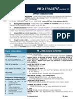 Info-traceess Numéro 35, le 19 Mai 2015