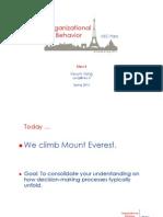 OB3. Decision Making. Leading Teams (Everest)