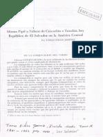 Idioma Pipil o Náhuat de Cuzcatlán