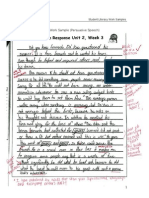 part a  student literacy work samples