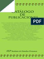 Catalogo Publicaciones IEP Enero 2012