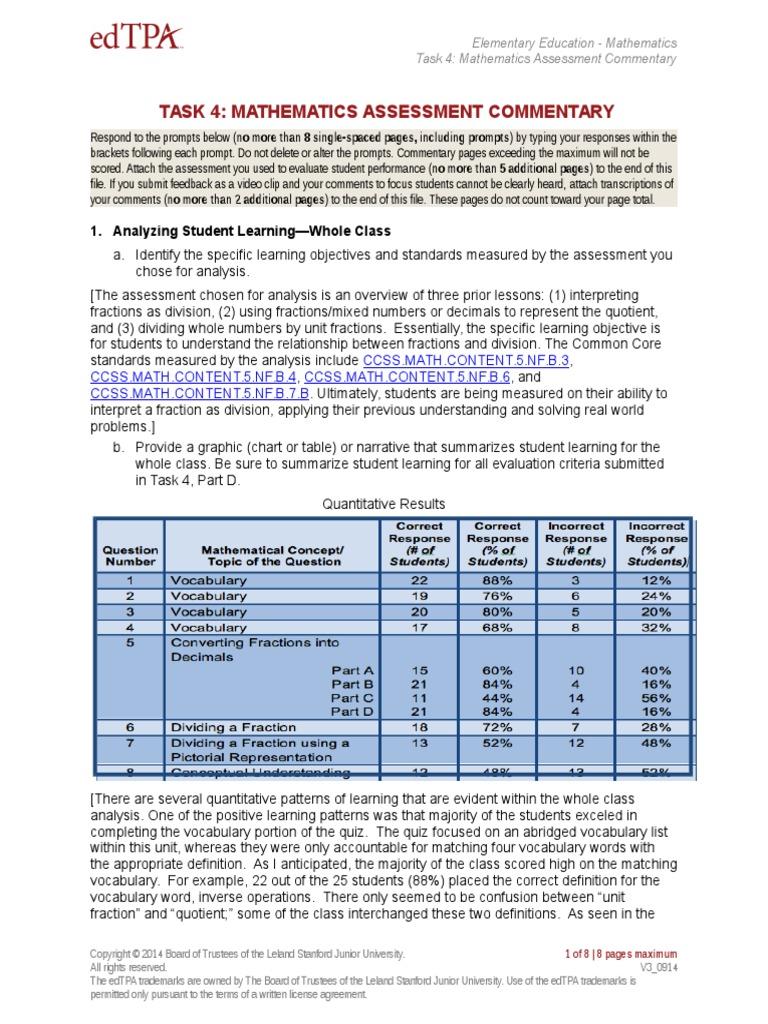 part g math assessment commentary | Educational Assessment ...