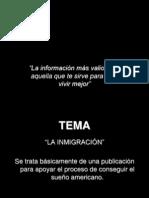 proyecto editorial de una publicación para apoyar el proceso de inmigrantes 2006 - lcc. alejandro oliveros acosta - iteso