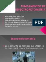 Clase 8. Fundamentos de Espectrofotometria
