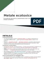 Prezentare Metale Curs Ecotox