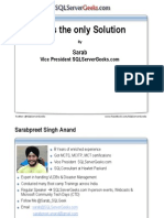 Tap is the Only Solutions Resource Governor Sarabpreet Singh
