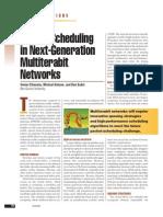 Packet scheduling in Multiterrabit networks