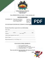 Vacation Bible School Application