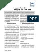 Sicherheitsvorschriften Für Anlagen Bis 1000Volt, Vds Verlag