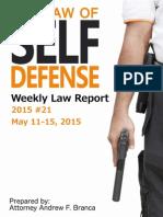 2015 #21 Self Defense Weekly Law Report