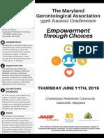 2015 Maryland Gerontological Association Conference