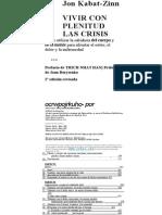 129979574 Vivir Con Plenitud Las Crisis