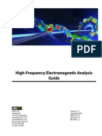Ansys - High frequenty magnetic