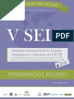 Caderno de Resumos Sell 20153