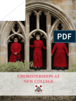 Choristerships at New College