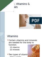 W10 Water, Vitamins & Minerals ppt
