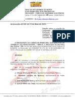 Resolução Nº 001-2015 Comissão Eleitoral