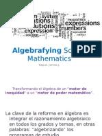 Algebrizando los programas educativos