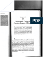 Challenges in Conducting Cognitive-behavioral Therapy