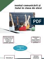 Managementul Comunicarii Si Al Conflictului in Clasa de Elevi