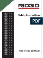 Safety Instructions Booklet PR710