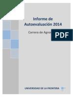 Informe Autoevaluación Agronomía 2014