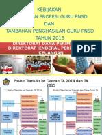 Kebijakan TPG Dan Tamsil PNSD 2015-Kemendikbud-5 Maret 2015