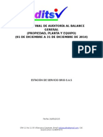 Informe Final de Auditoría Al Balance General