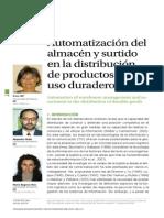 Automatización Del Almacen y Surtido en La Distribucion de Productos de Uso Duradero