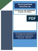 local multiusos del C.P. Huataullo